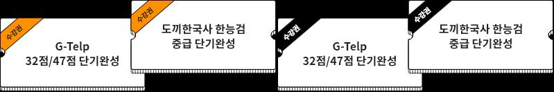 G-Telp 32점/47점 단기완성,도끼한국사 한능검 중급 단기완성
